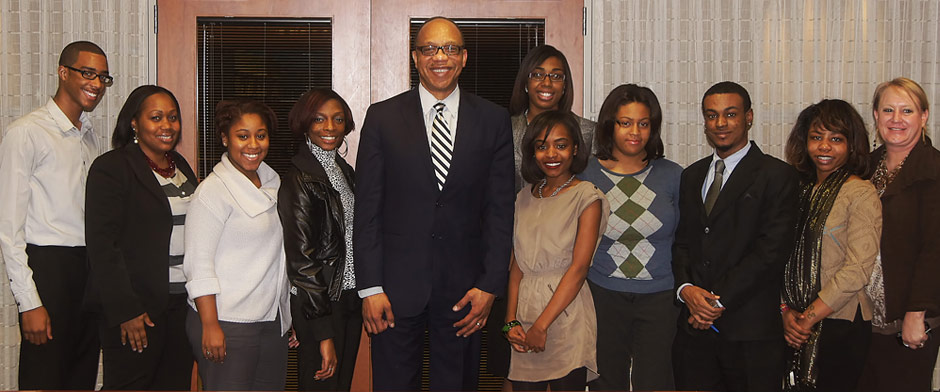 MSNBC's Eugene Robinson and JCSU Students