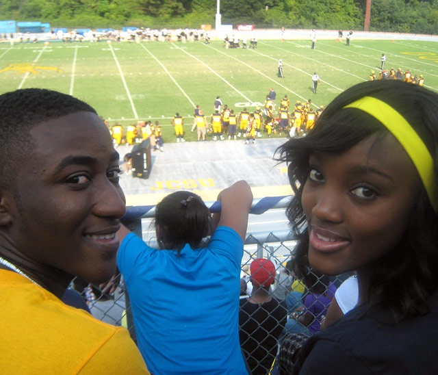Students at JCSU game